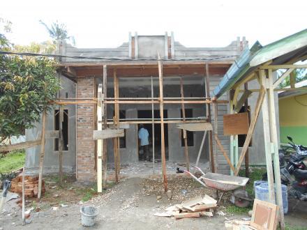 ADD 2016, Pemerintah Desa Tanjung Harap Rehab Balai Desa